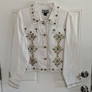 The Collective Works of Berek White Beaded Jacket